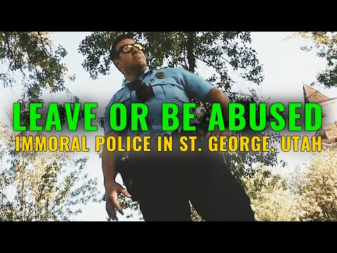 Armed & Immoral: ANY REASON TO HARASS W/ ST. GEORGE, UTAH POLICE DEPARTMENT