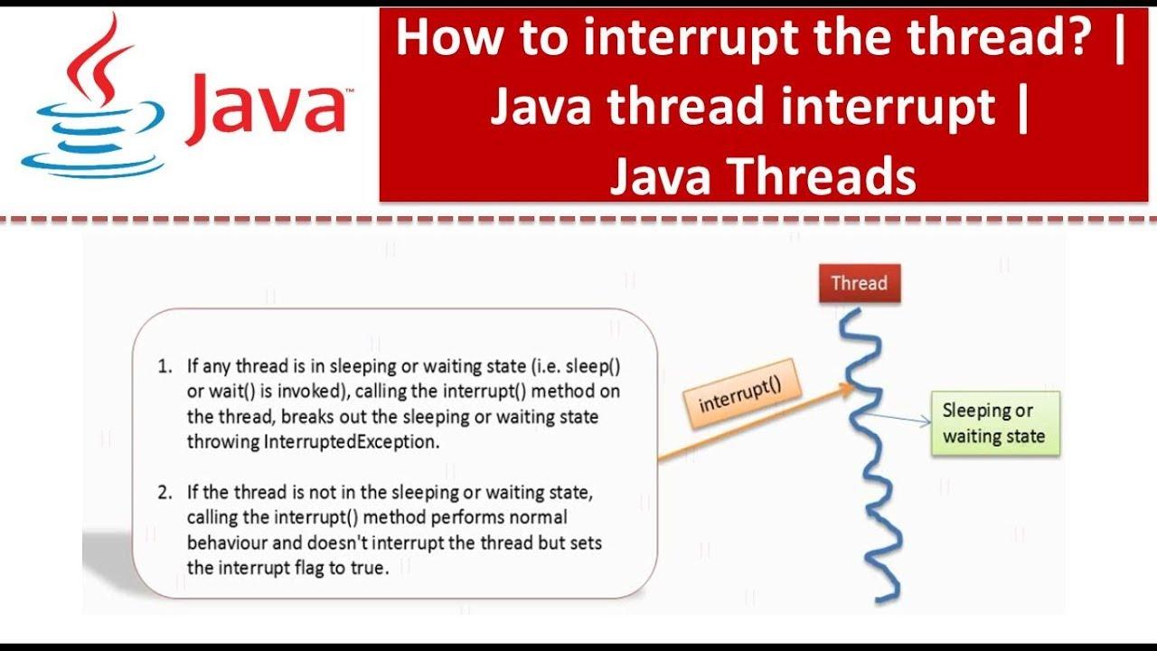 java tutorial java threads interrupting a thread java
