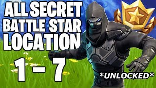 ALL HIDDEN FORTNITE BATTLE STAR LOCATIONS! FREE TIERS! SEASON 5 WEEK 1 - 7