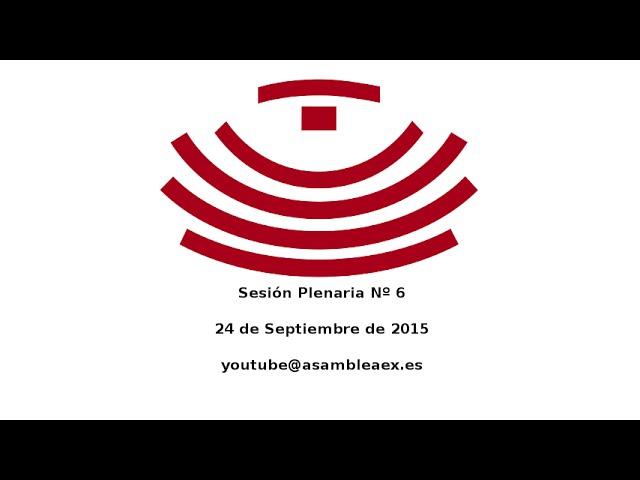 Sesión Plenaria número 6, 24 de septiembre de 2015