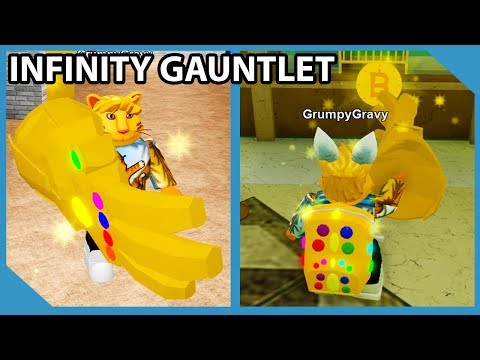 The Infinity Gauntlet VS The Bank - Roblox Robbery Simulator
