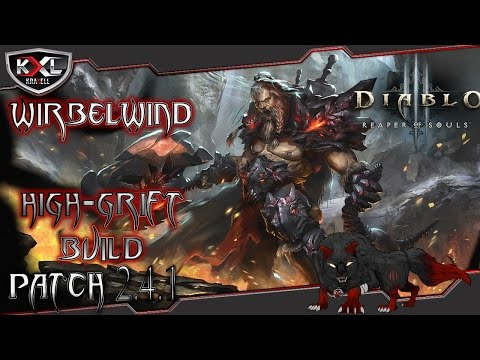 Diablo 3 RoS [Patch 2.4.1] Barbar Wirbelwind H-Grift [6 Ödland Set] ➥ Let's Build