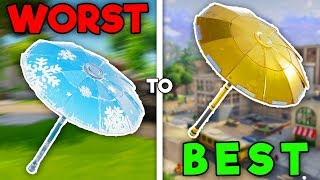 RANKING ALL UMBRELLAS FROM WORST TO BEST!! (Fortnite Battle Royale)