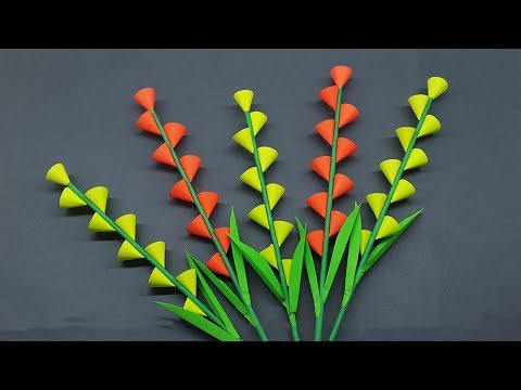 DIY Paper Stick Flower | How to Make Beautiful Flowers Step by Step