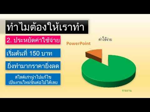 รับทำ PowerPoint & Presentation