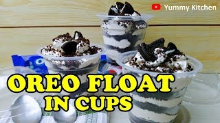 Oreo Float in Cups