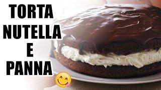 ❤video RICETTA TORTA ALLA NUTELLA E PANNA (FACILE E VELOCE!)❤