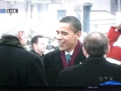 Obama Lands at Ottawa International Airport Canada Feb 19 2009