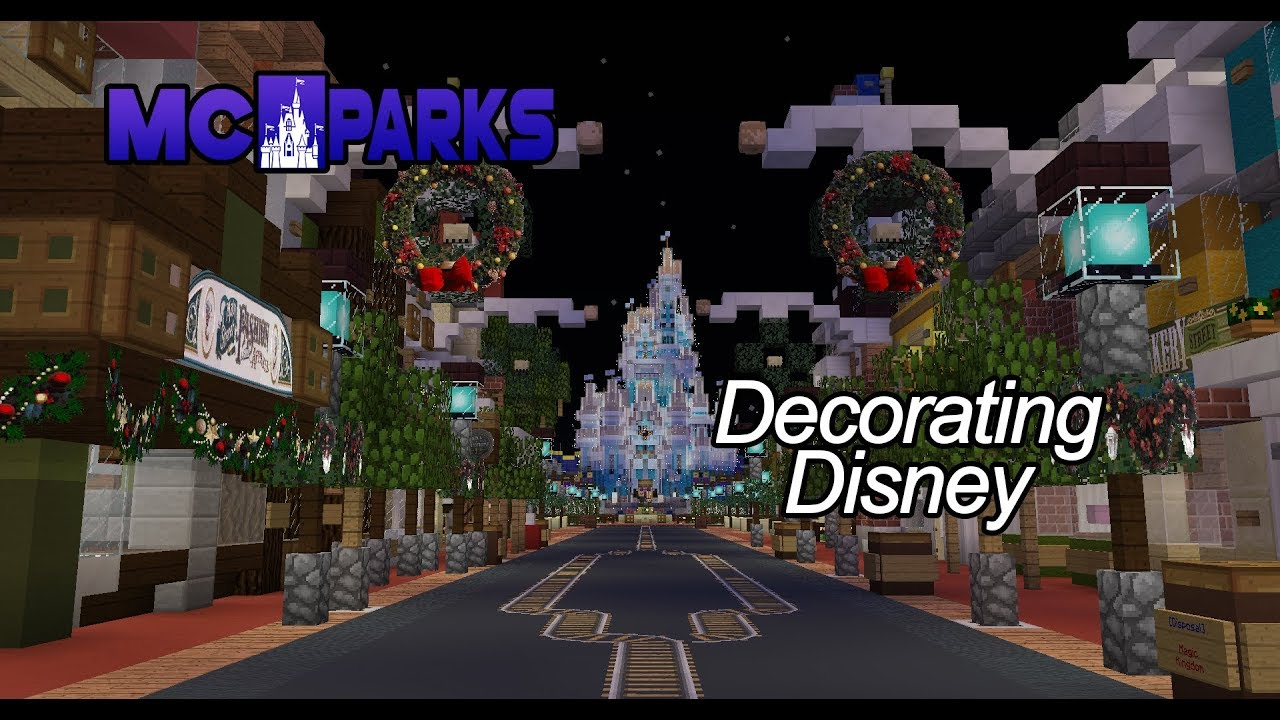 Christmas Minecraft Decorations.Decorating Disney Halloween To Christmas At Magic Kingdom Mcparks Minecraft