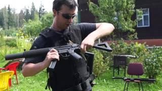 Обзор,тест. Пневматический винтовки M4A1(Это видео создано с помощью видеоредактора YouTube (http://www.youtube.com/editor), 2014-09-14T19:31:28.000Z)