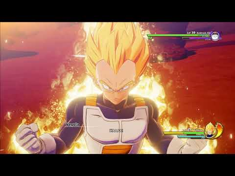 Dragon Ball Z: Kakarot - Vegeta Transforms into a Super Saiyan & Fights Android 19 |