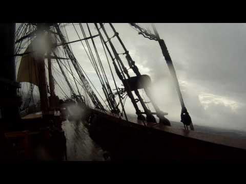 Rough seas on HMS Bounty