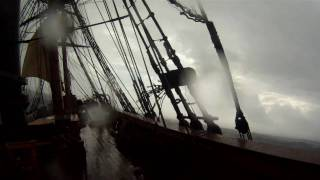 Rough seas on HMS Bounty