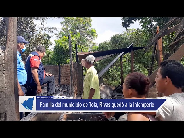 Familia de Rivas quedó en la intemperie tras incendio este martes