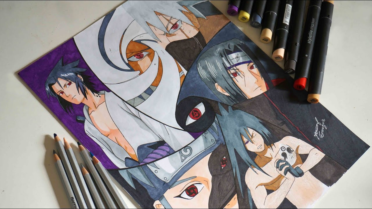 speed drawing of sharingan characters  naruto ost music