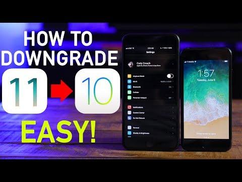 How To Downgrade iOS 11 to iOS 10.3.2! EASY!