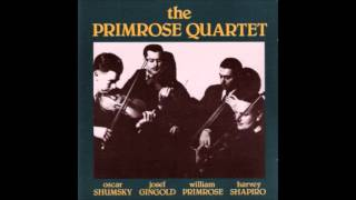 Primrose Quartet - Brahms: String Quartet in B Flat Major, Op. 67 [Complete]