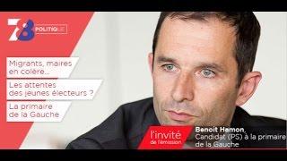 78 Politique – émission du 30 septembre 2016 avec Benoit Hamon (PS)