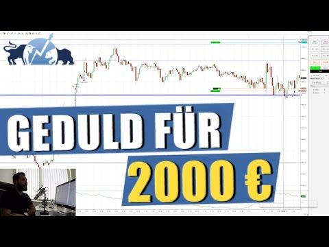 Trading - Geduld für 2000 Euro bitte #TradeDerWoche