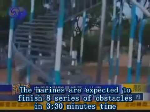 US Marine VS Chinese Marine on obstacle course (English subs)