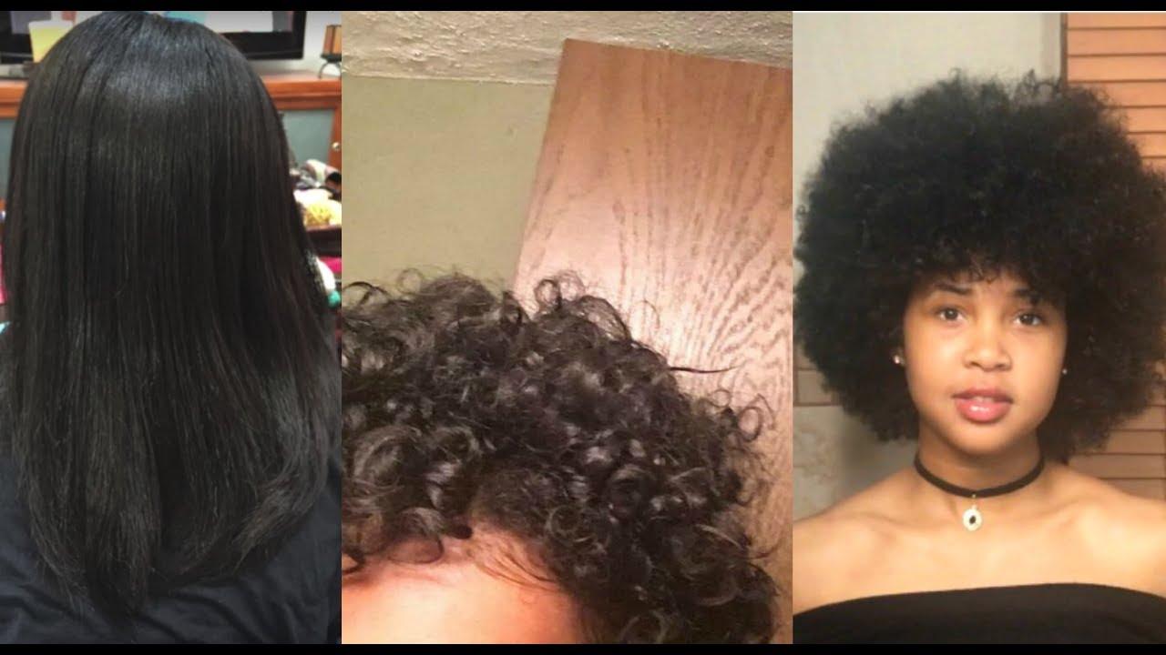natural hair journey damaged