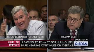 Whitehouse Questions Barr on the Mueller Report