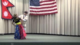 Mohisha and Samyak dance Chyangba hoi chyangba