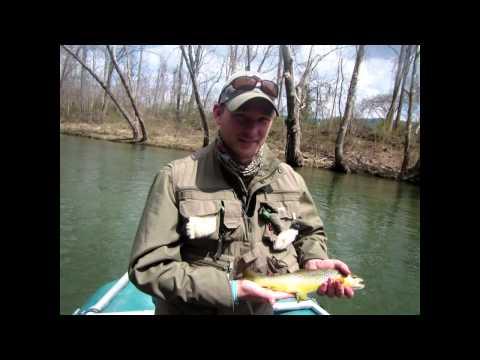 Anglers Lane Fishes The Jackson River (Va)  2014April9