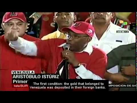 Venezuela: government celebrates repatriation of gold