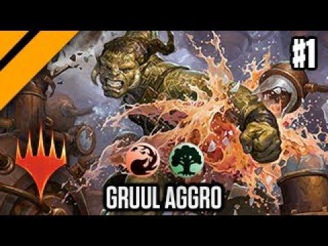 Mtg Arena Bo1 Laddering Gruul Aggro P1 Youtube