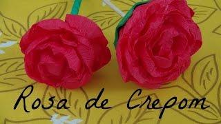 Rosa de Papel Crepom – DIY