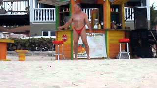 Old Man Dancing on the Beach