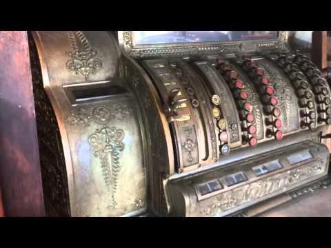 For Sale 1905 NCR Antique Cash Register With Wooden Base Floor Model