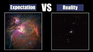 Deep-Sky Objects Through Telescope.Expectation and Reality