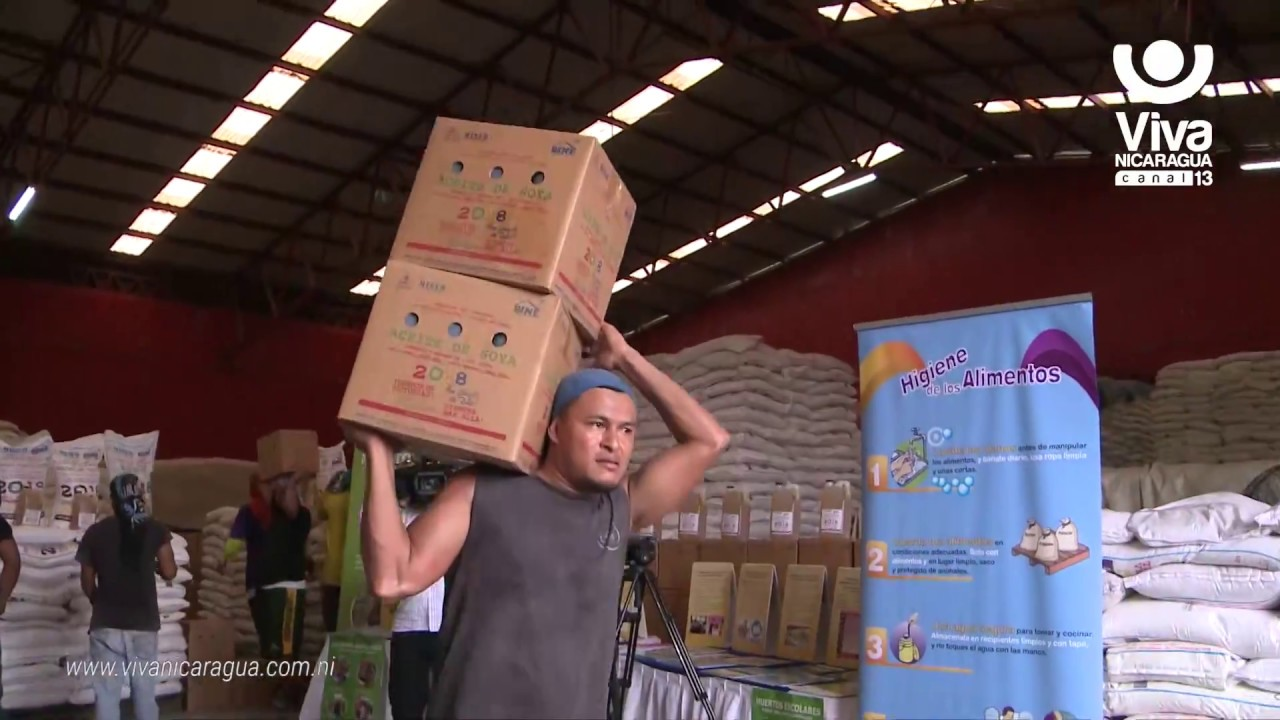 Gobierno Sandinista reanuda distribución de merienda escolar - YouTube