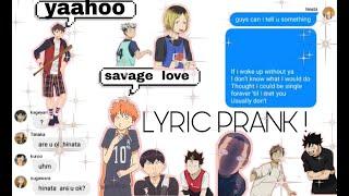 "Savage love"" lyrics prank ..."