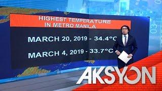 Hottest temperature sa Metro Manila