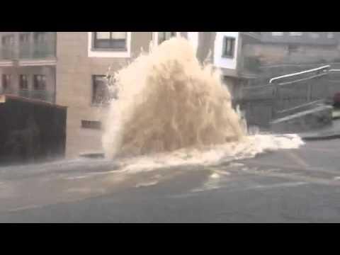 Margit deja un reguero de incidencias e inundaciones en Arousa