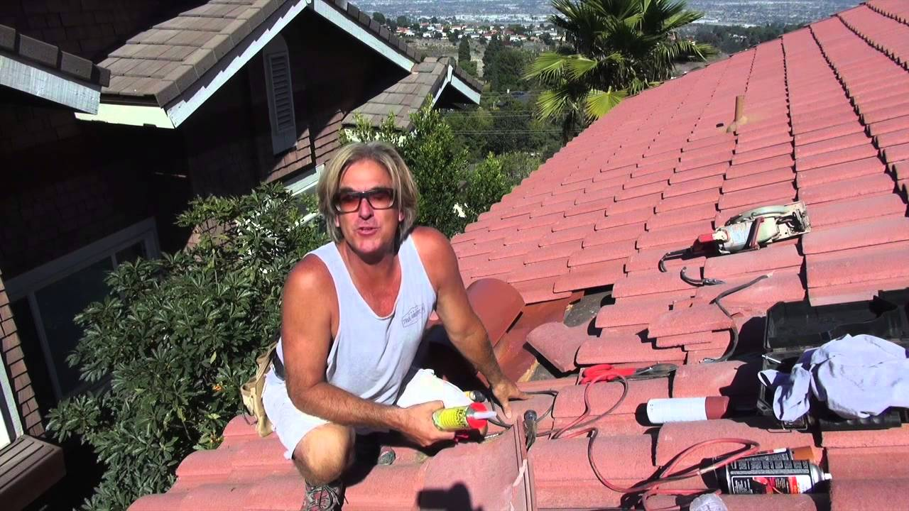 How to Install a Kitchen Vent Pipe Flashing on a Tile Roof 2 of 2 ... for Roof Kitchen Exhaust Fan  75tgx