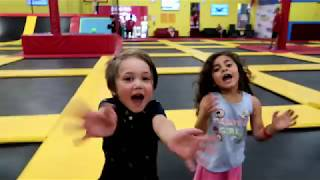 Indoor Playground Trampoline Park Center for Kids! Nursery Rhymes for Babies