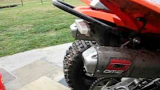 raptor 250 with dual exhaust youtube