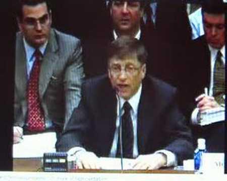 Bill Gates on OpenXML at US House of Representatives