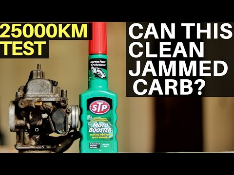CAN STP MOTO BOOSTER CLEAN MOTORCYCLE & SCOOTER CARBURETOR? FUEL ADDITIVE TEST ON CLOGGED CARB JET