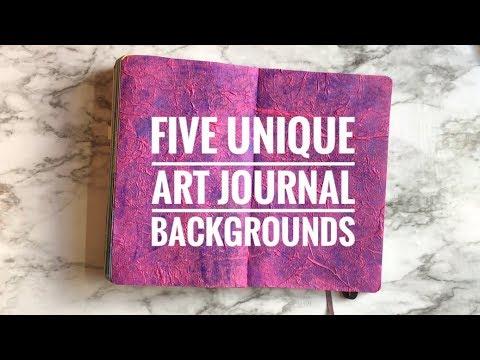 Five Unique Art Journal / Bullet Journal Backgrounds