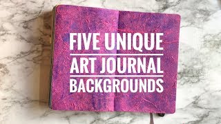Five Unique Art Journal / Bullet Journal Backgrounds