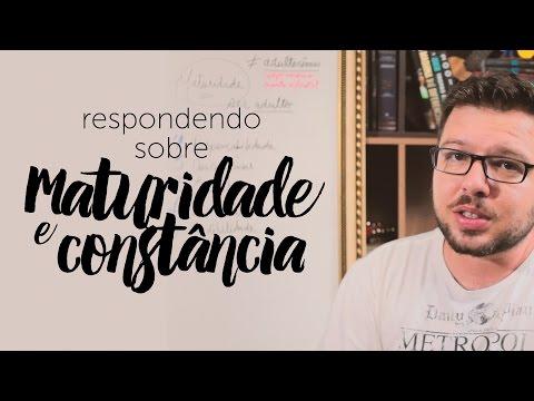 Maturidade / constância espiritual - Vlog DM t 7 e 9