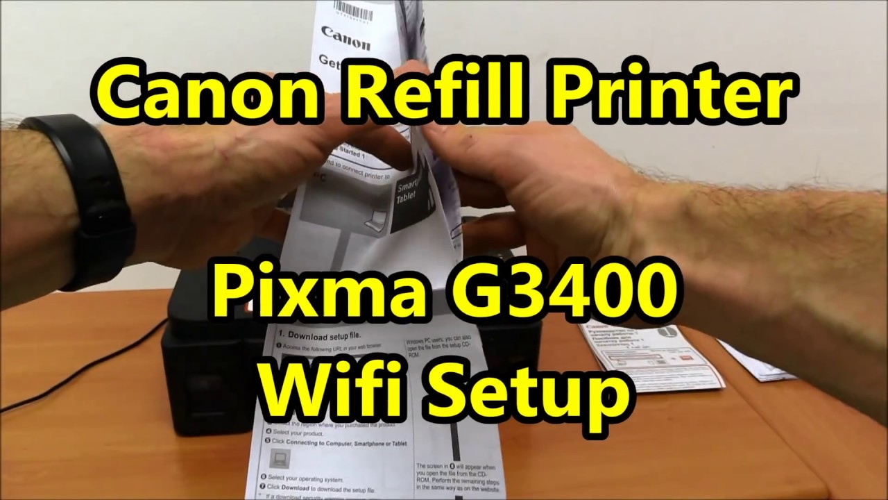Canon Refill printer - Pixma G3000 G3400 Wifi Setup with iPhone6