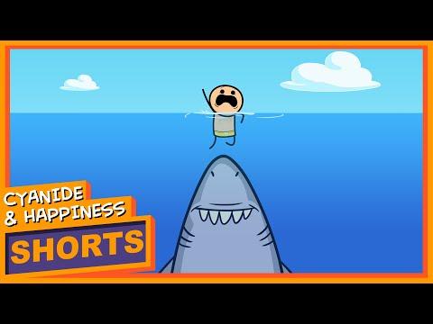 Shark Attack - Cyanide & Happiness Shorts