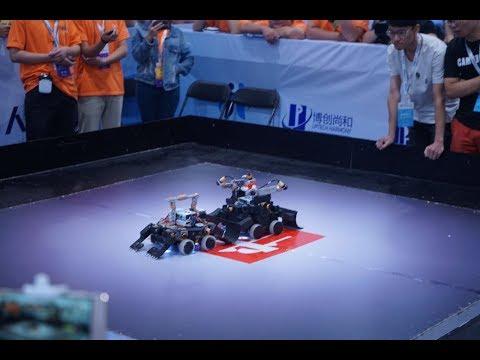 LIVE:Fierce & Fascinating! Robot wrestling semifinals at World Robot Conference