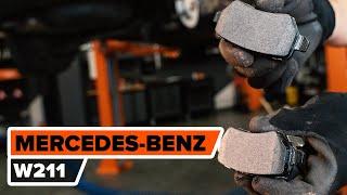 instalare Placute Frana MERCEDES-BENZ E-CLASS: manual de intretinere si reparatii